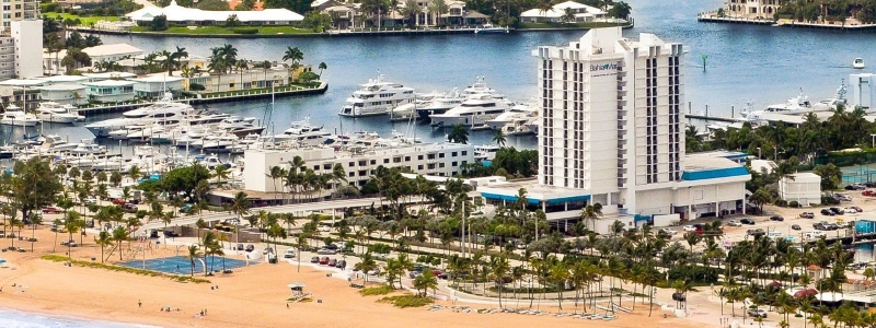 The beach at Bahia Mar, Fort Lauderdale, Florida